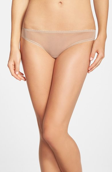 On Gossamer mesh bikini in mocha - An ultra-light and sheer low-rise mesh bikini is...