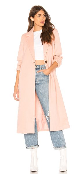 ON PARLE DE VOUS Gossip Coat in pink - Self: 50% poly 50% woolLining: 100% poly. Dry clean...