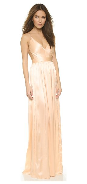 ONE by Contrarian babs bibb maxi dress in nude