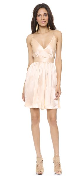 "ONE by Contrarian Babs bibb mini dress in peach - ""Description Contrarian , part of Shopbop's ONE by..."