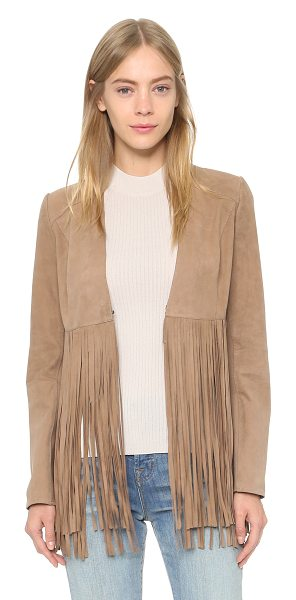 ONE by LAMARQUE Ronni fringe jacket in latte - Description LAMARQUE , selected for Shopbops ONE by...