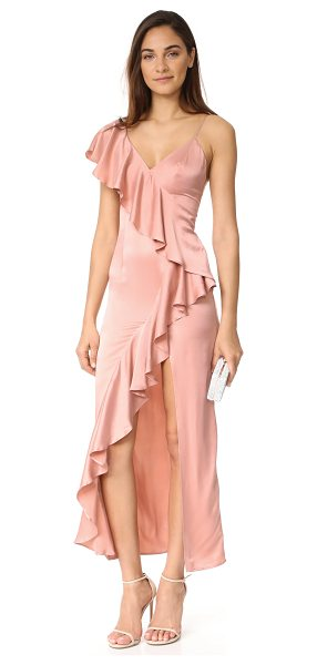 ONE by New Friends Colony evita cascade ruffle dress in blush - New Friends Colony is a modern Los Angeles-based brand...