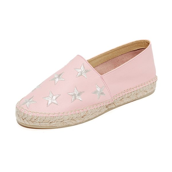 ONE BY SOUTH PARADE FOOTWEAR star embroidered leather espadrilles in pink/silver - South Parade Footwear, selected for Shopbop's ONE by...
