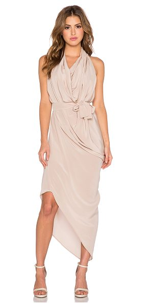 ONE FELL SWOOP Erin dress in blush - 100% silk. Dry clean only. Unlined. Draped detail. Waist...