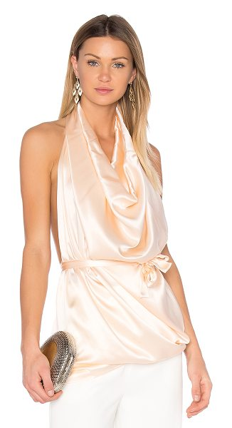 ONE FELL SWOOP Erin Top - 100% silk. Dry clean only. Draped neckline. Halter neck...