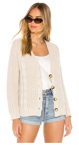 One Grey Day calista cardigan in sable combo