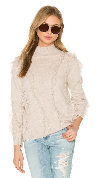 One Grey Day Stella Sweater in apricot - 70% merino wool 30% cashmere. Hand wash cold. Rib knit...