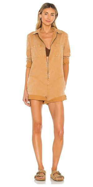 One Teaspoon prophecy jumpsuit in tobacco