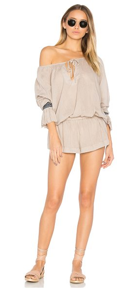 One Teaspoon The Rose Hill Muslin Romper in champagne - Whoever said don't slouch, hasn't seen this. The Rose...