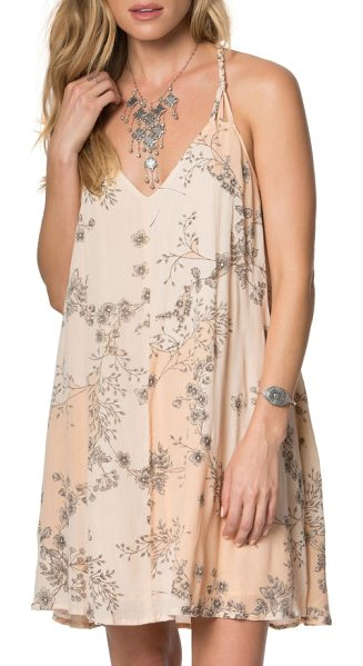O'Neill hazel floral print dress in peach puree - Pretty details like braided straps and a vining floral...