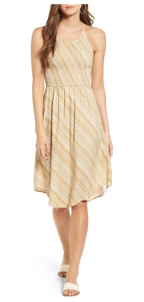 O'Neill zora sundress in latte - A smocked bodice adds sweet texture to this easy, breezy...
