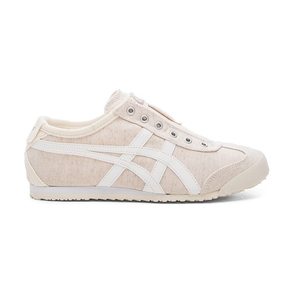 Onitsuka Tiger by Asics Mexico 66 slip on in beige - Textile upper with rubber sole. Elasticized slip-on...