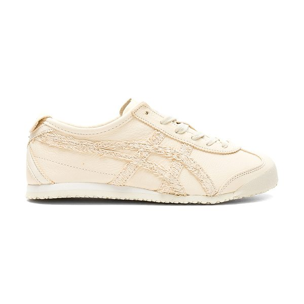 ONITSUKA TIGER BY ASICS Mexico 66 Sneaker - Leather upper with rubber sole. Lace-up front. Frayed...