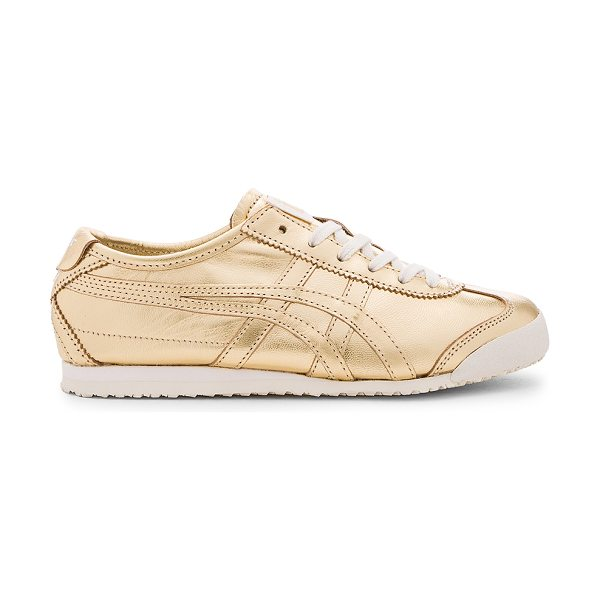 ONITSUKA TIGER BY ASICS Mexico 66 Sneaker in metallic gold - Metallic leather upper with rubber sole. Lace-up front....
