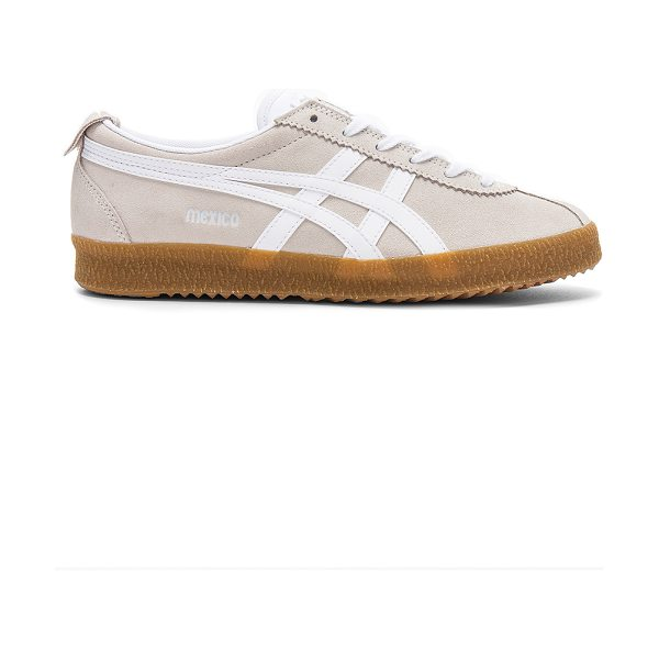 Onitsuka Tiger by Asics Mexico Delegation in beige - Suede and textile upper with rubber sole. Lace-up front....