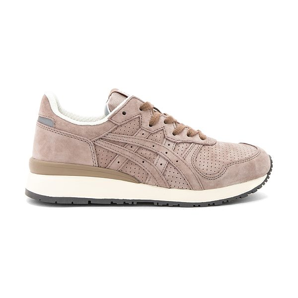 Onitsuka Tiger by Asics Tiger Ally Sneaker in taupe grey & taupe grey - Suede upper with rubber sole. Lace-up front. Padded...
