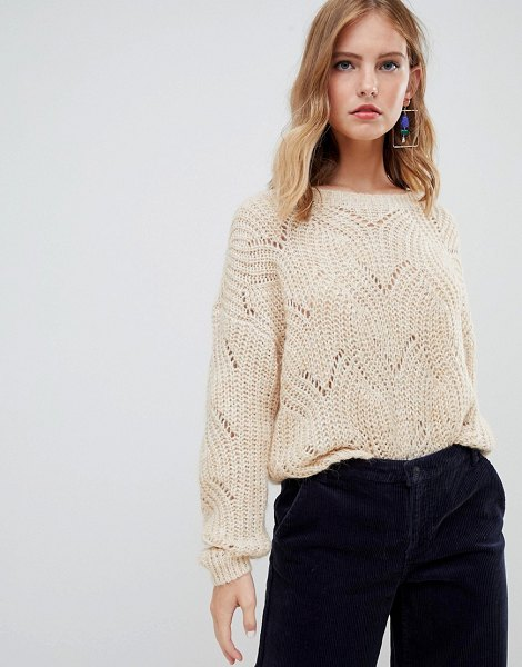 Only cable knit sweater in pumicestone