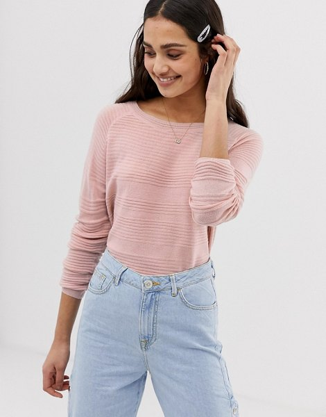 Only caviary strikethrough knit sweater in mistyrose