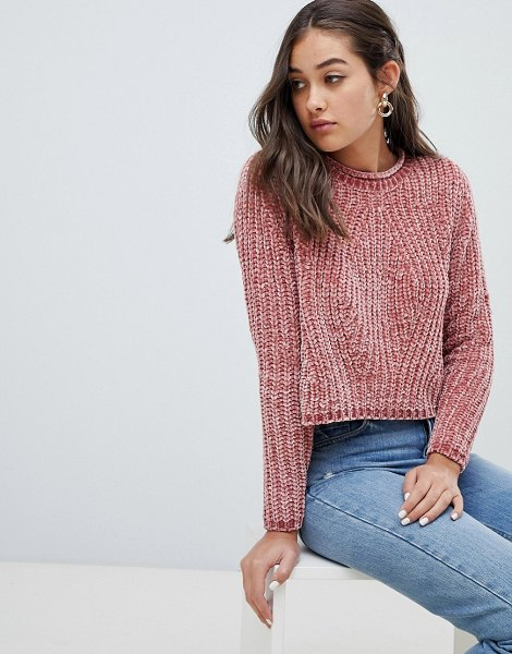Only chenille sweater in rosesmoke