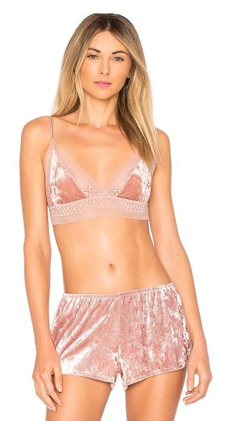 Only Hearts Cleo Bralette in pink - 70% nylon 17% rayon 13% spandex. Hand wash cold. Sheer...
