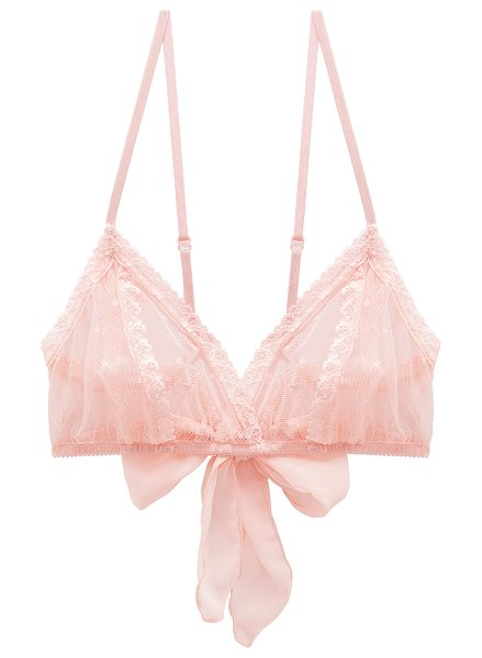 Only Hearts Coucou Lola Bralette in blush - 100% nylon. Hand wash cold. Adjustable shoulder straps....