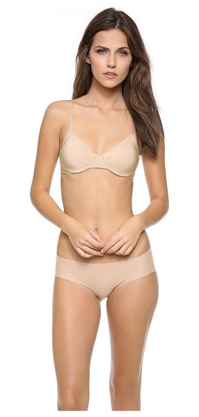 Only Hearts second skins underwire bra in nude - This jersey underwire bra features gathered elastic...