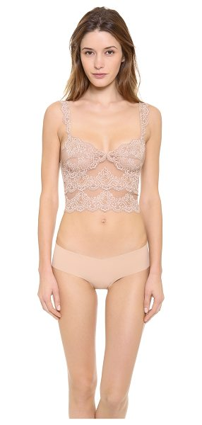 """Only Hearts So fine lace cropped camisole in caramel - """"This cropped lace camisole features a V neck and a..."""