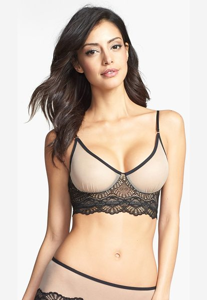 Only Hearts whisper sweet nothings soft cup bra in oyster/ black