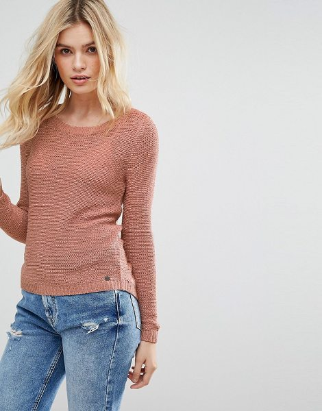 Only knitted sweater in rosedawn