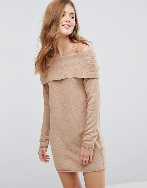 "ONLY Off The Shoulder Sweater Dress - """"Knit dress by Only, Cotton-rich knit, Off-shoulder..."