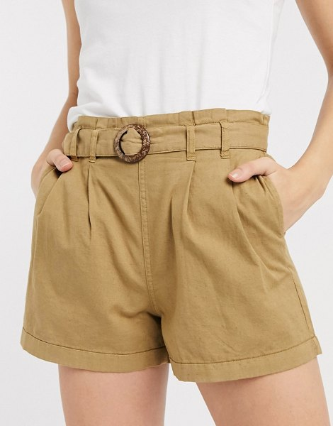 Only shorts with belt in tan-brown in brown