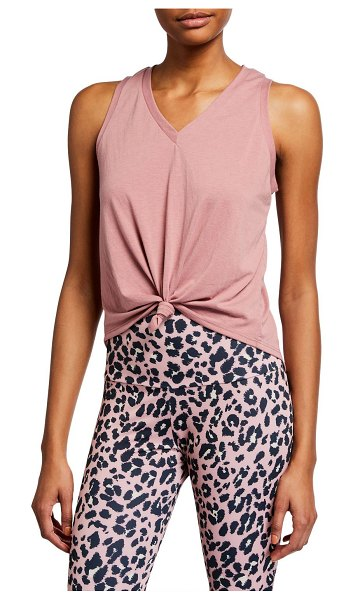 ONZIE Knot Sleeveless Tee in ash rose
