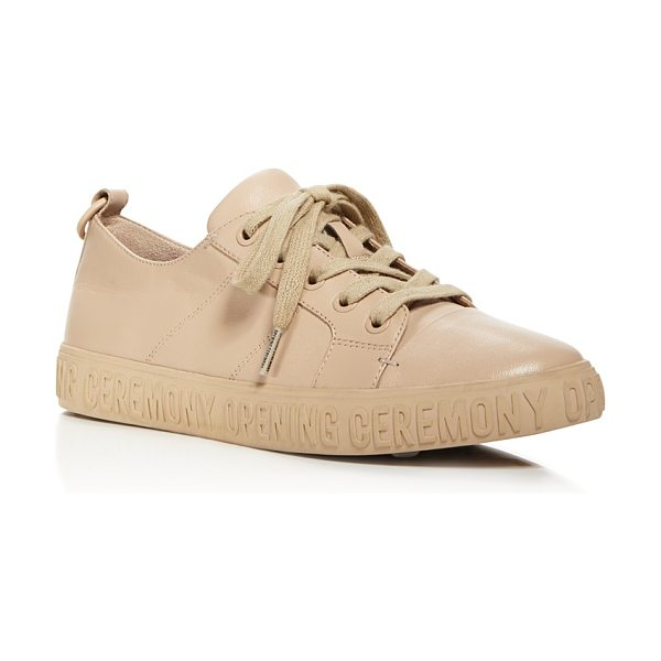 Opening Ceremony La Cienega Leather Low Top Sneakers in nude - Opening Ceremony La Cienega Leather Low Top Sneakers-Shoes
