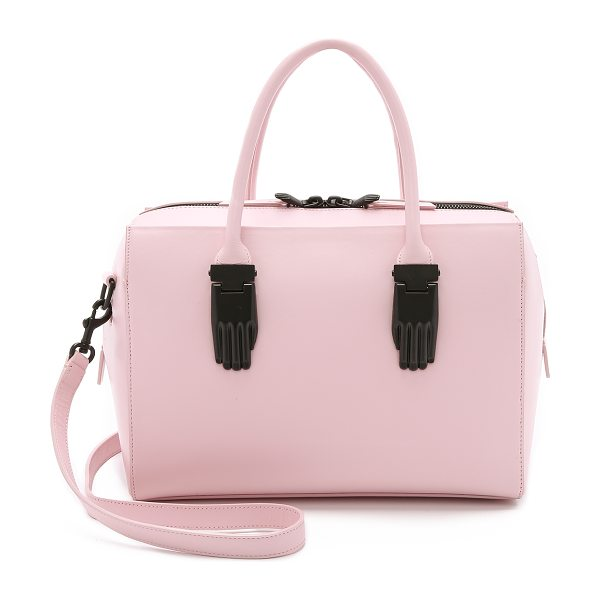 OPENING CEREMONY Lele handbag in blush pink - Hand shaped accents bring a surrealist look to this...