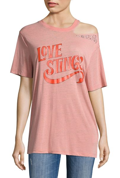 OPENING CEREMONY love stings slashed cotton tee - Cotton tee with front graphic and shoulder cutout...
