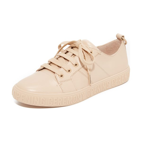 Opening Ceremony mina logo sneakers in nude - A logo-stamped platform grounds these lightly textured...