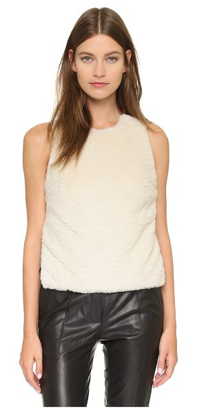 Opening Ceremony Sherpa invisible strap tank in cream multi - A draped sherpa overlay adds a plush accent to this...