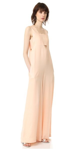 Opening Ceremony u neck jumpsuit in pale peach - NOTE: Unique sizing advice. A wide-leg Opening Ceremony...
