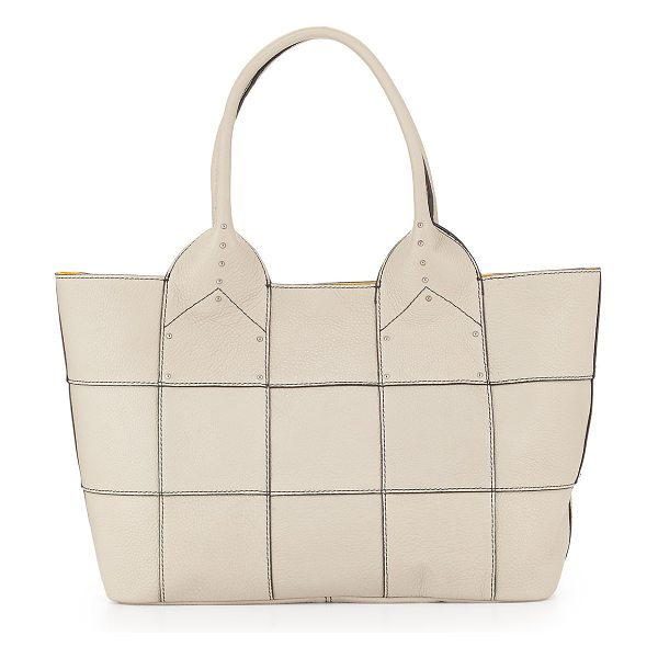 Oryany Summer studded-detail tote bag in silver -  Oryany pebbled leather tote bag. Silvertone hardware....
