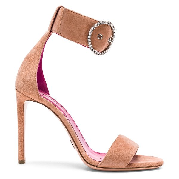 Oscar Tiye Erica Sandals in pink - Suede upper with leather sole.  Made in Italy.  Approx...