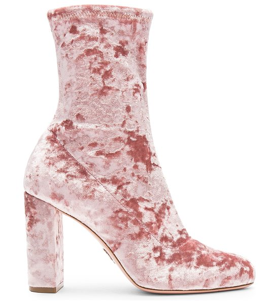 """Oscar Tiye Giorgia Bootie in pink - """"Crushed velvet upper with leather and man made sole...."""