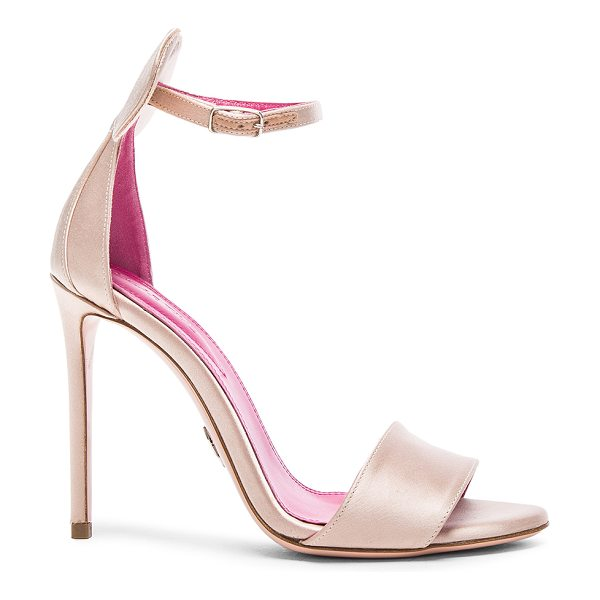Oscar Tiye Minnie Satin Sandals in pink - Satin upper with leather sole.  Made in Italy.  Approx...