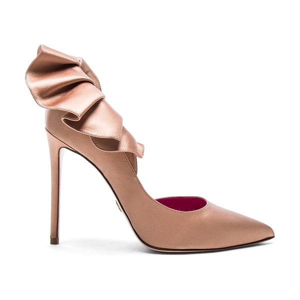Oscar Tiye Satin Adele Pumps in neutrals - Satin upper with leather sole.  Made in Italy.  Approx...