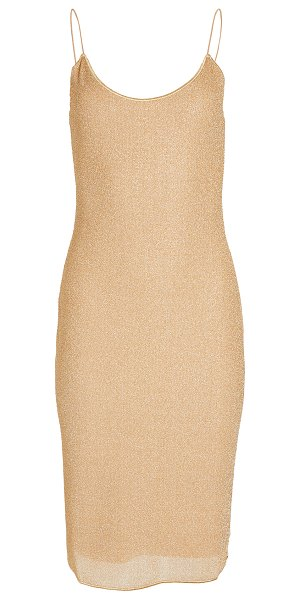 Oseree cocktail dress in gold