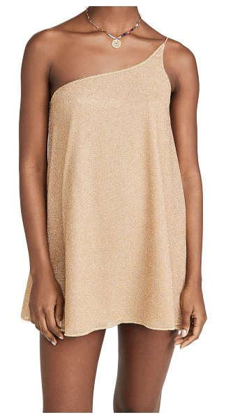 Oseree shimmer cover up dress in gold