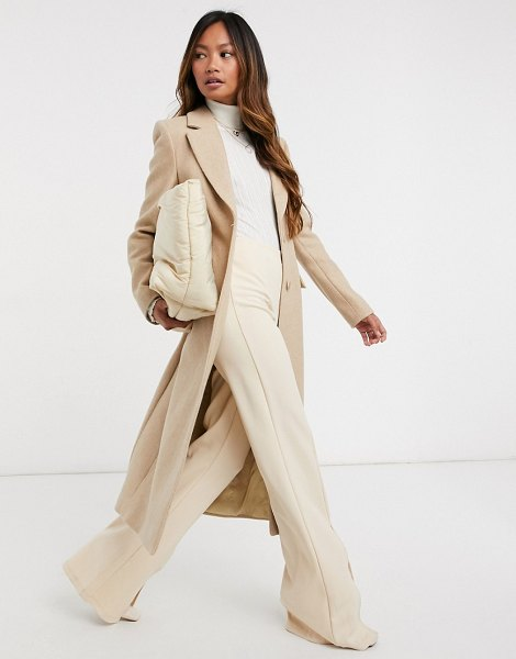 Other Stories &  herringbone hourglass coat in beige in beige