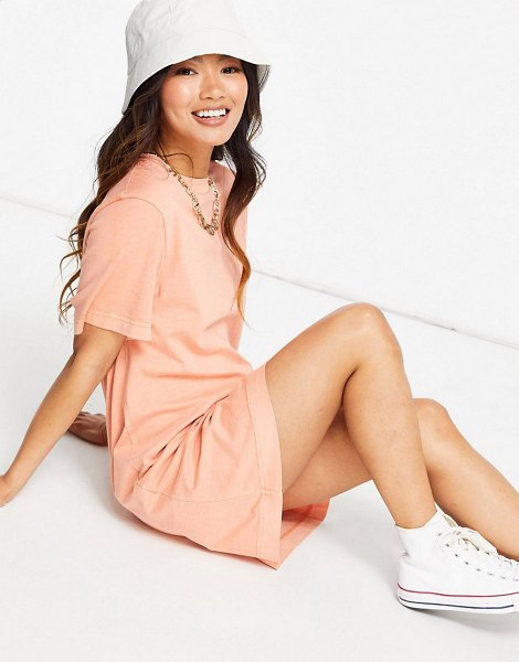 Other Stories &  organic cotton t-shirt mini dress in peach-pink in pink