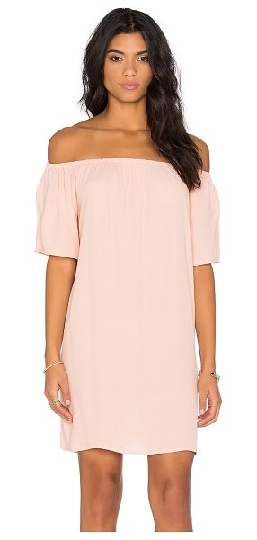 Otis & Maclain Laura Dress in peach - 100% rayon. Dry clean only. Unlined. Elasticized...