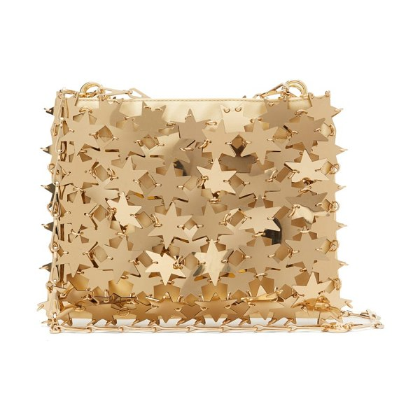 Paco Rabanne comet 1969 iconic chainmail-star clutch bag in gold