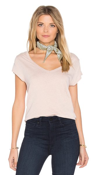 PAIGE Nicoletta Tee in cameo rose - 50% poly 38% cotton 12% lyocell. Slub jersey knit...